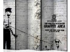 Paraván - Banksy - Graffiti Area II [Room Dividers]